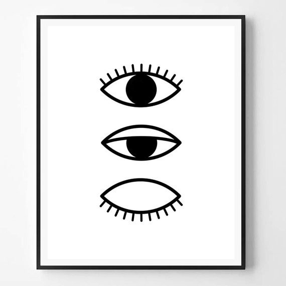 Eloquent image with eyes printable