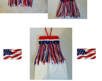 Girls' USA Crochet Bandeau Fringe Top