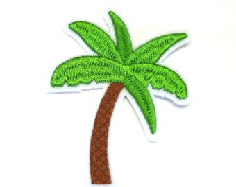 Palm Tree Embroirdered Iron on Patch or Sew on Patch - H440