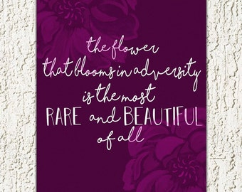 Rare & Beautiful Flower 8x10 printable quote