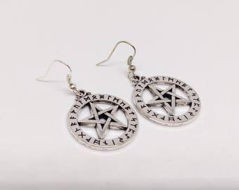 Pentagram Rune Earrings