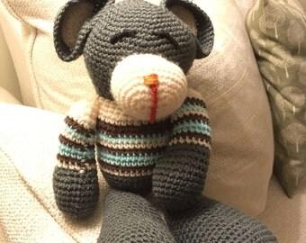 Handmade Cuddly Knitted Bear