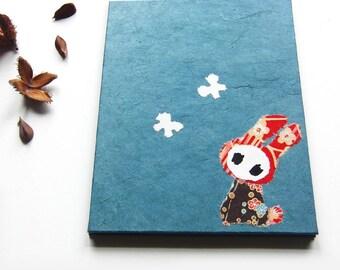 "Accordion Photo Album ""Bunny"" pigeon blue"