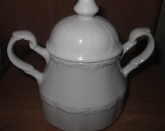 J & G Meakin Ironstone Sugar Bowl Made in England 1970's