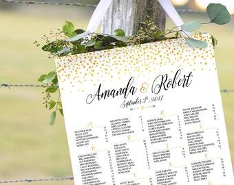 Printable Wedding Seating, Wedding seating chart alphabetical, Wedding Seating Chart, Wedding Seating Chart Template, Wedding decorations