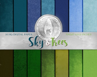 70% OFF Sky & Trees Paper