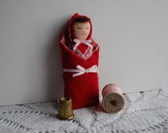 Teeny Tiny Bundled Waldorf Baby Doll