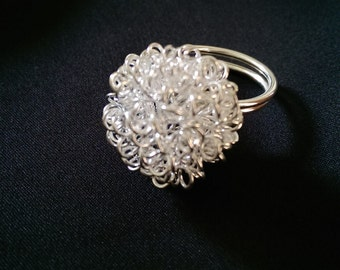 Wire Ball Wire Wrap Ring