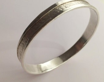 Wrapped silver bangle