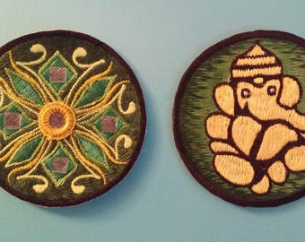 Green Hindu Patches