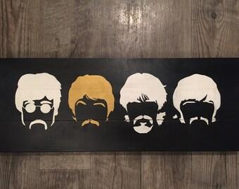 Beatles Head Wooden Sign