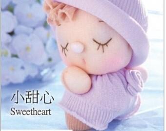sock doll kit, DIY sock doll, soft doll sculpturing, soft doll making, baby shower gift, Home decor---Sweetheart