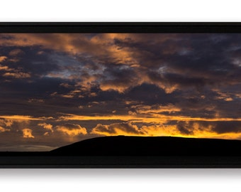 Sun rise on lead-Hom, box on Forex laminated and mounted art print American