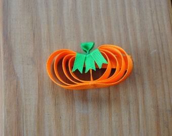 Flat Pumpkin Hair Clip