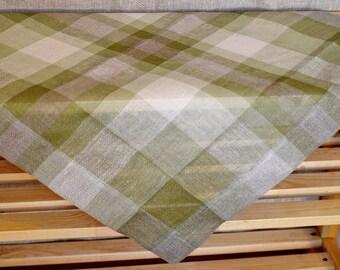 Hand-woven linen carpet Square tablecloth