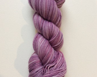 Amethyst - hand dyed sock yarn