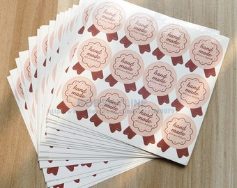 Hand Made  Stickers ,Bake Tag, Favor Tag set 60 pieces