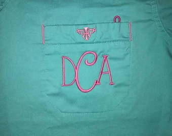 Custom Monogramming! Scrub Top