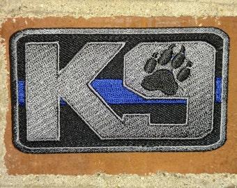 Law Enforcement K9 (Blue Line) - Morale/Tactical Patch