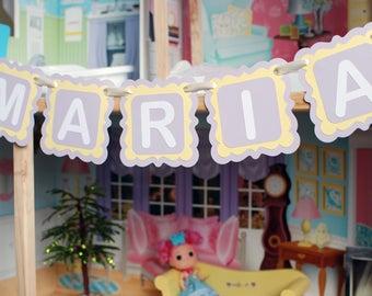 Custom Name Banner - Personalized Name Banner - Personalized Gift - Personalized Baby Gift - Baby Girl Nursery Decor - Kids Room Decor