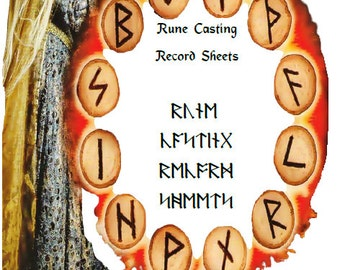 Rune Casting Digital Record Sheets on 22 pages  10 layout by Janslaxa