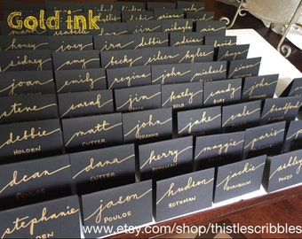 Handwritten place cards, wedding. calligraphy, escort cards, dinner party place cards, engagement party, rehearsal dinner