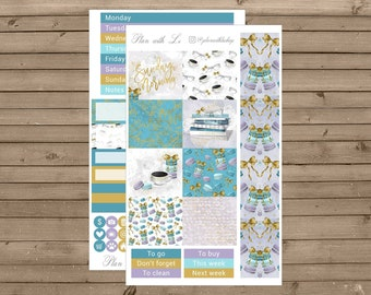 Sunday Morning Mini Kit | Mini Happy Planner Sticker Kit