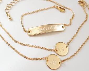 The Elizabeth | Roman Numerals Bracelet Set