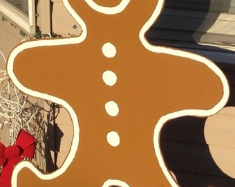 Outdoor Christmas Gingerbread Man Decoration
