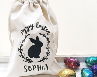 Personalised Easter drawstring bag