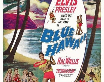 Blue Hawaii, Elvis Presley 11 x 17 Movie Poster Style A