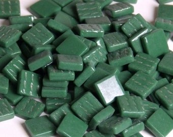 12mm Square Mosaic Tiles - Spruce Green Gloss - 50g