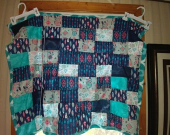 Native American inspired baby quilt