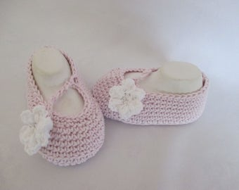 Baby shoes Mary Janes Ballerinas Rosé approximately Gr. 18/19 foot approx 12 cm cotton