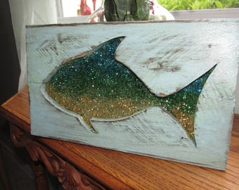 Pallet Wood and Resin Tropical Fish Wall hanging