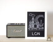 London city A4 papercut art - Minimal black and white art - Wanderlust unique gift - Frameable wall art - Home decor artwork