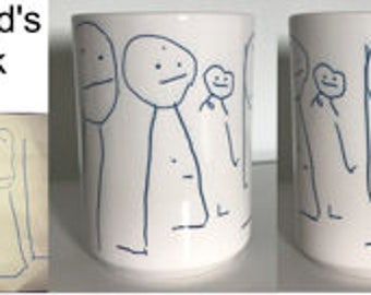 Your Child's Artwork Coffee Mug - You're  Child's Artwork - Child's Artwork