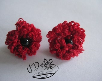Lace Earrings Poppy Papaver