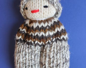 Handmade sheep wool doll