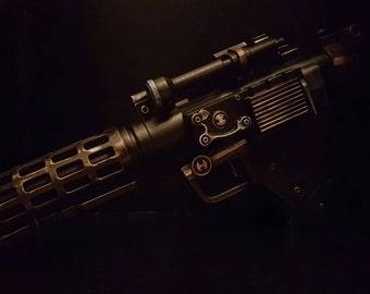 Steampunk. Star Wars dt-57 heavy blaster. Lights and sound.
