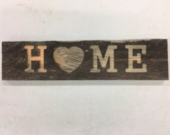 Rustic Pine Home Sign