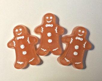 Gingerbread Man Soap, Handmade Soap, Christmas Soap, Teacher Gifts, Stocking Stuffer, Gift Soap, Gingerbread Soap, Children's Soap