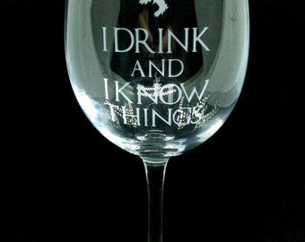 Game of Thrones Inspired Large Wine Glass