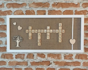 Grandchildren Scrabble Frame
