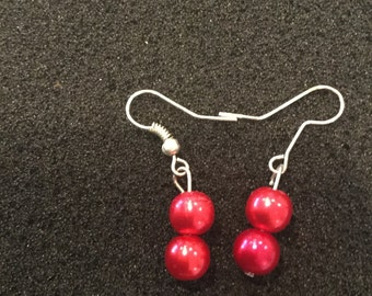 Ruby Red dangle earrings