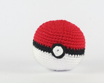 Pokeball, amigurumi pokeball, crocheted pokeball, pokemon ball, stuffed pokeball, pokemon, amigurumi pokemon, pokemon toy
