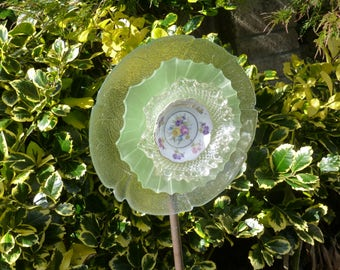 Handmade Vintage Glass Flower suitable for gardens or home decor