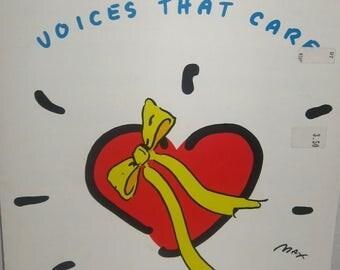 Voices that Care Original Sheet Music 1991 Linda Thompson Jenner Peter Cetera David Foster