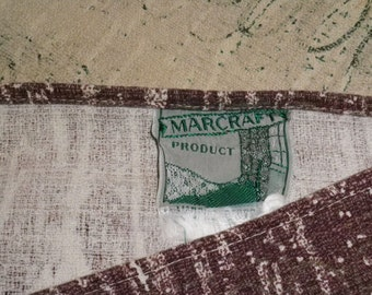 CLEARANCE SALE!!  FANTASTIC 1950s Vintage Marcraft Products Barkcloth Bedspread (96 inches x 98 inches)