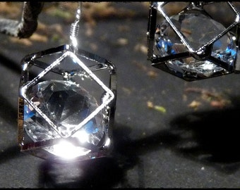 Crystal cage earrings